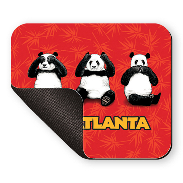 Printed Mouse Pad - 8 inches x 9 1/2 inches, rectangle