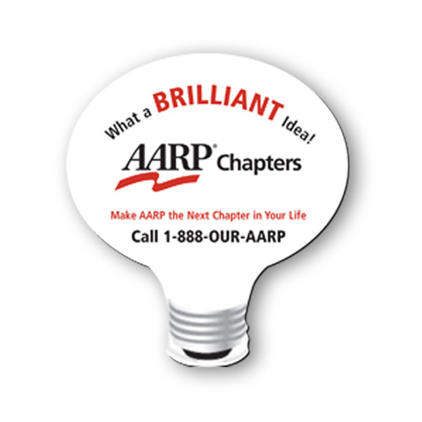 Customized Mouse Pad - 8 inches x 8 inches, light bulb