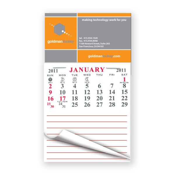 Personalized Calendar pad magnets
