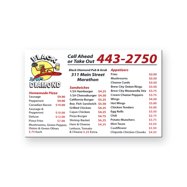 Printed Magnet Calendar - 3 1/2 inches x 5 1/2 inches