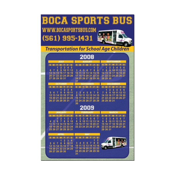 Promotional Magnet Calendar - 4 inches x 7 inches