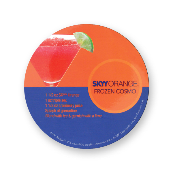 Printed Round Magnet - 2 1/2 inches