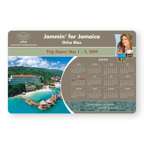 Imprinted Vinyl Magnet - 5 1/2 inches x 8 1/2 inches