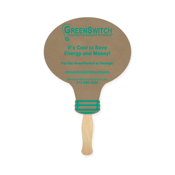 Personalized Recycled Fan