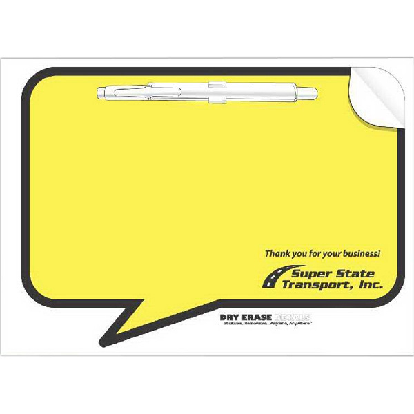 Imprinted Full Color Dry Erase Decal