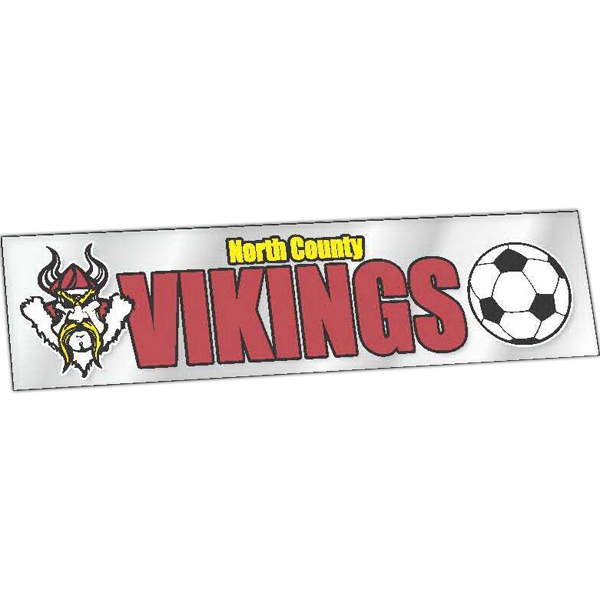 Imprinted Clear Bumper Sticker