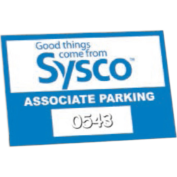 Customized Inside Durable Self-Sticking Parking Permits