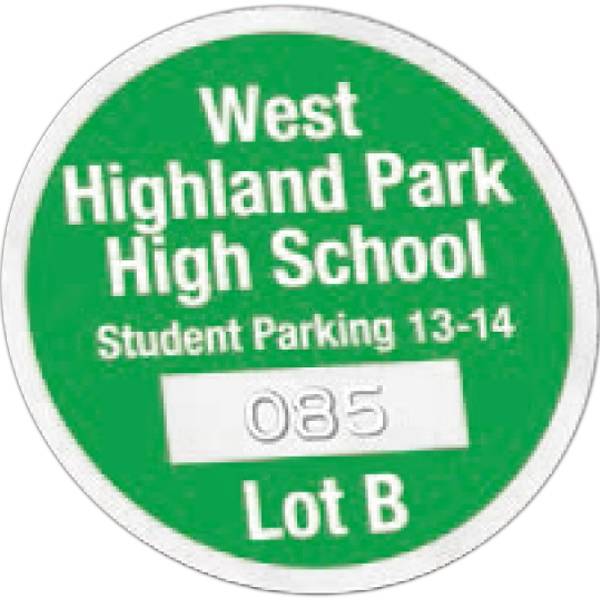 Promotional Inside Durable Self-Sticking Parking Permits