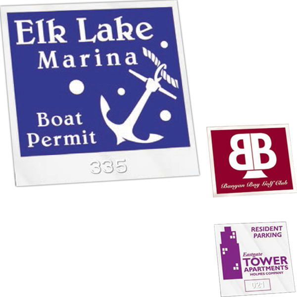 Custom Inside Durable Self-Sticking Parking Permits