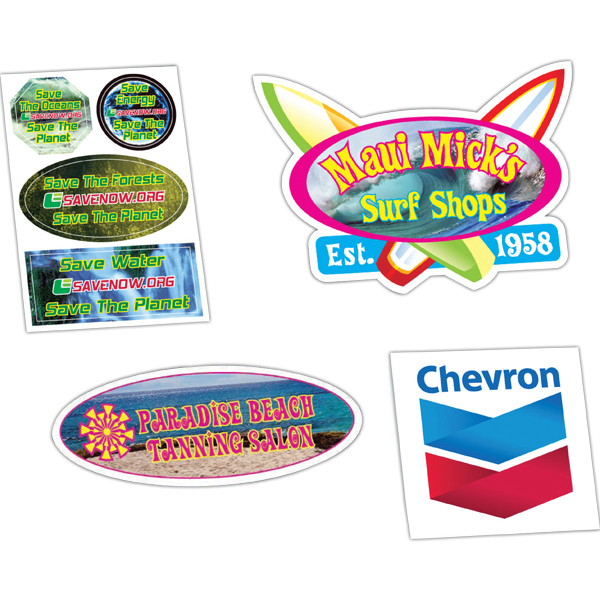Imprinted HD Resolution Full Color Custom Shape Decals