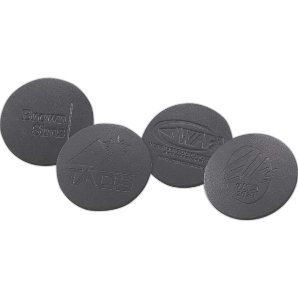 Personalized Black Leather Coaster