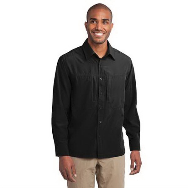 Personalized Eddie Bauer (R) - Long Sleeve Performance Travel Shirt