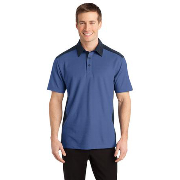 Printed Port Authority - Silk Touch Colorblock Polo