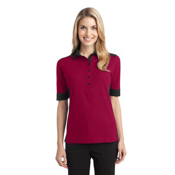 Custom Port Authority - Ladies' Silk Touch Colorblock Polo