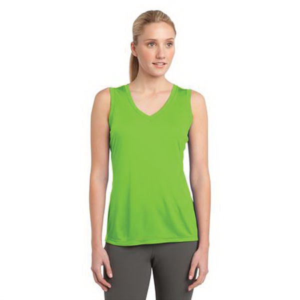 Personalized Sport Tek Ladies' Sleeveless Competitor V-Neck Tee