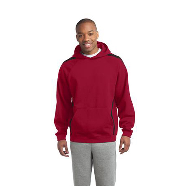 Imprinted Sport-Tek - Sleeve Stripe Pullover Hooded Sweatshirt