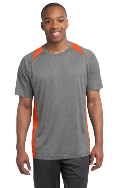 Personalized Sport Tek Heather Colorblock Contender Tee