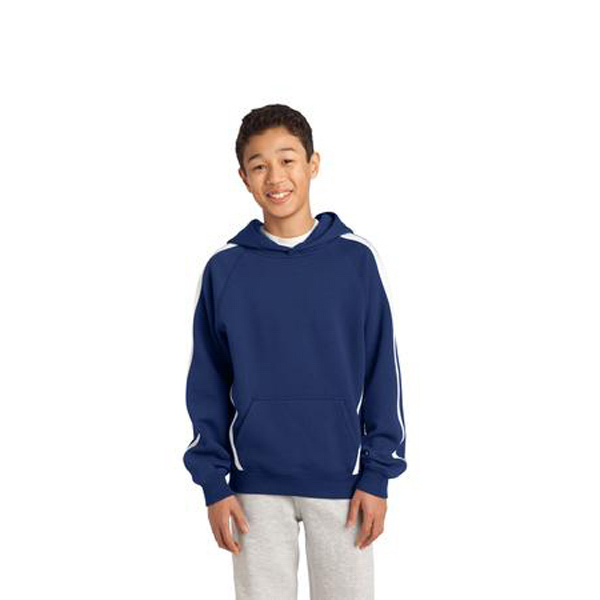 Personalized Sport-Tek - Youth Sleeve Stripe Pullover Hooded Sweatshirt