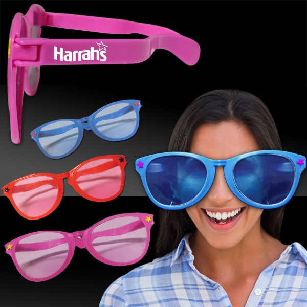 Customized Jumbo Novelty Costume Sunglasses