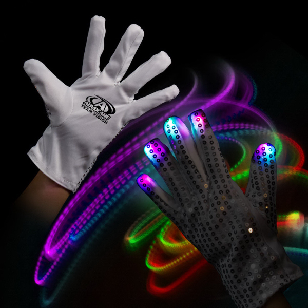 Promotional Light Up Glow Left Hand Rock Star Glove