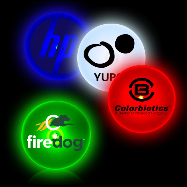 Promotional Circle Shape Flashing LED Button