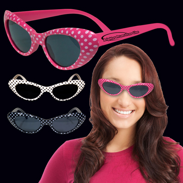 Promotional Polka Dot Funky Glasses
