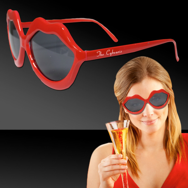 Customized Red Lip Sunglasses