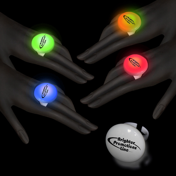 Imprinted Multi Color LED Button Ring