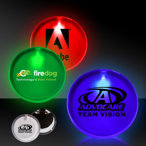 "Promotional 2"" Lighted LED Badge"