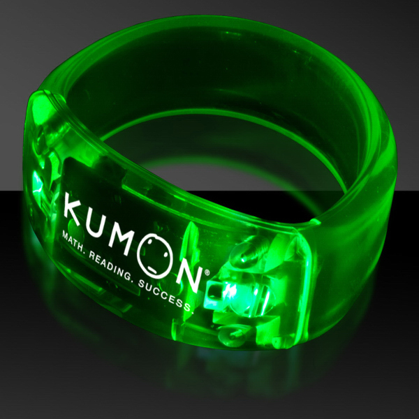 Customized Green Soundsation Light Up LED Bangle Bracelet