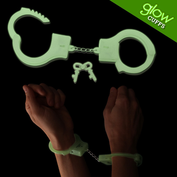 Printed Glow In The Dark Handcuffs, Blank
