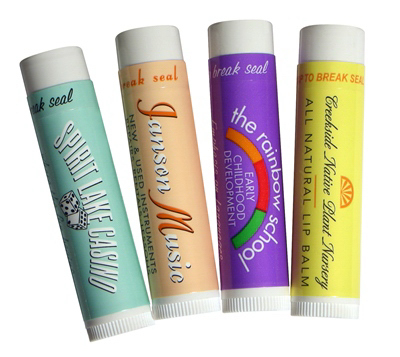 Printed All Natural Tangerine Lip Balm