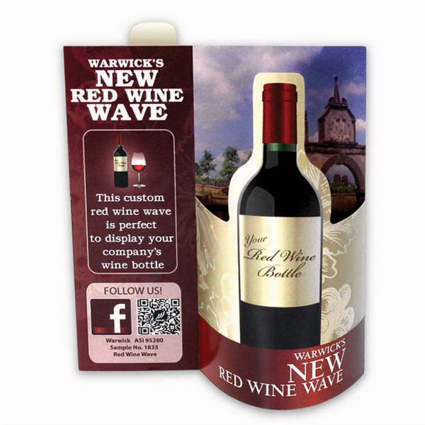 Printed Red Wine Wave 3D Table Tent