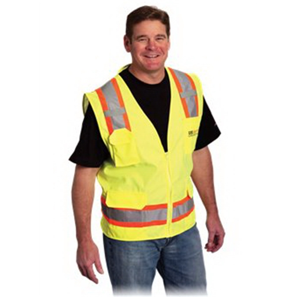 Custom Two Tone 6 Pocket Surveyors Vest