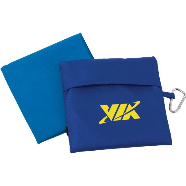 Imprinted Microfiber Towel w/Pouch