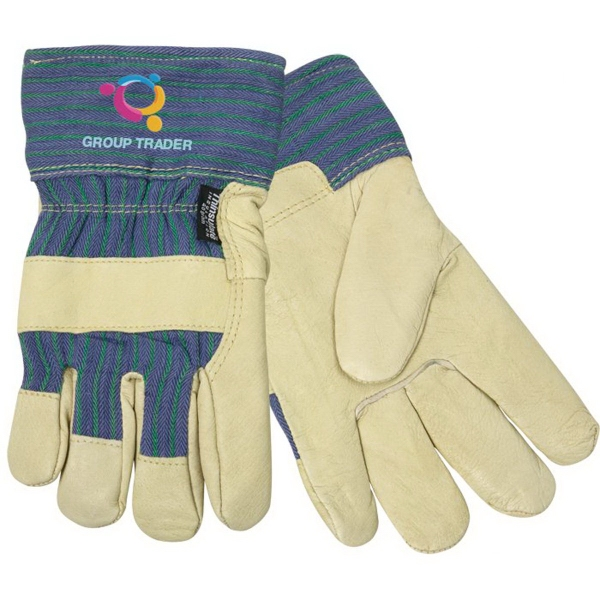Printed Thinsulate(R) Lined Pigskin Leather Palm Glove