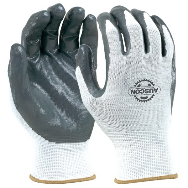Custom Seamless Knit Glove With Nitrile