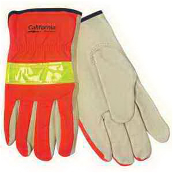 Promotional Hi-Vis Leather Driver's Glove