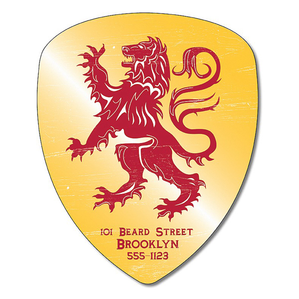 "Customized Magnet - Badge / Crest / Shield Shape 4"" x 4.9"""