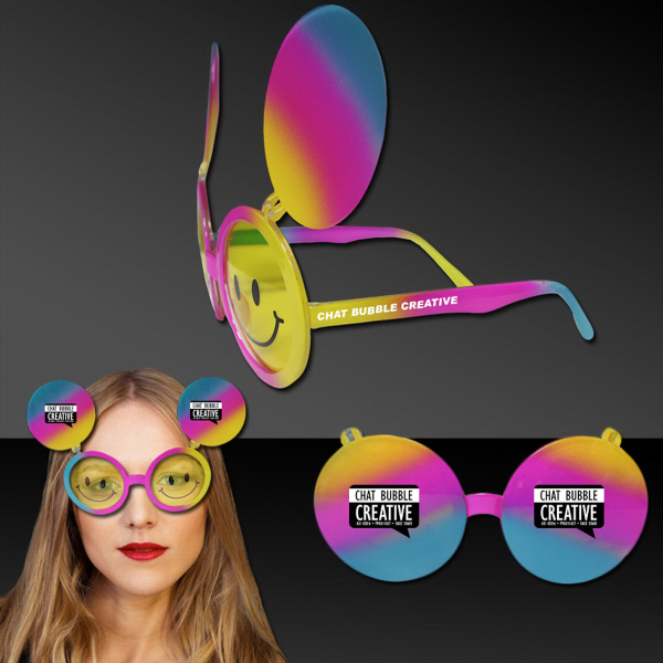 Personalized Smiley Face Flip Up Sunglasses
