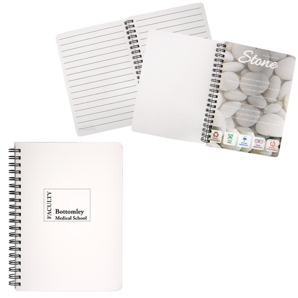 Imprinted Spiral Stone Paper Notebook