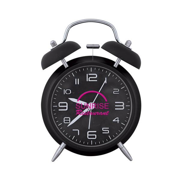 Printed Twin Bell Alarm Clock