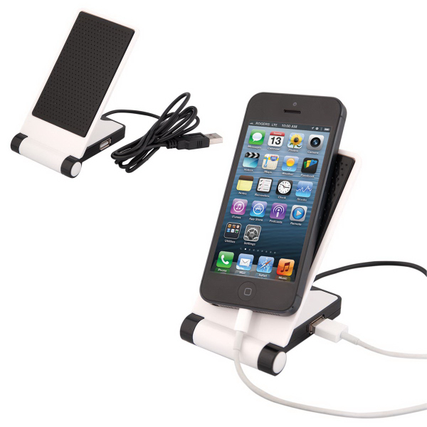 Imprinted USB Anti-Slip Electronics Holder
