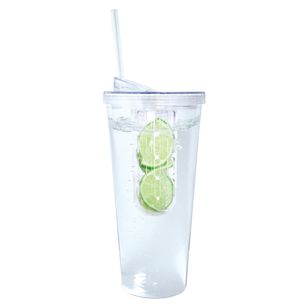 Personalized 600 ML (20 oz) Large Fruit Infuser Tumbler