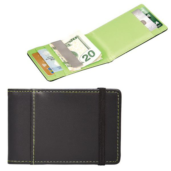 Imprinted Cardholder with Money Clip