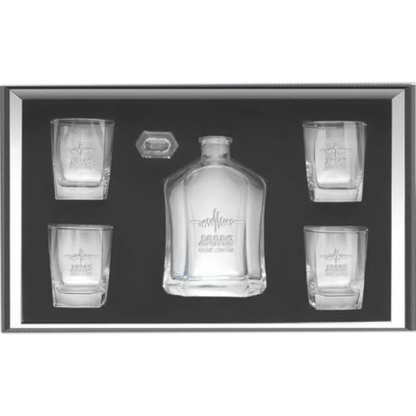 Custom 5 Piece Decanter Set