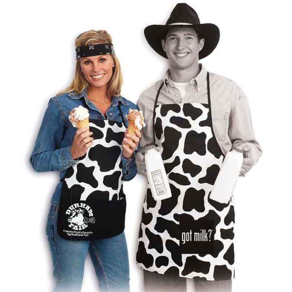 Customized Cowprint Bib with 2 Pocket