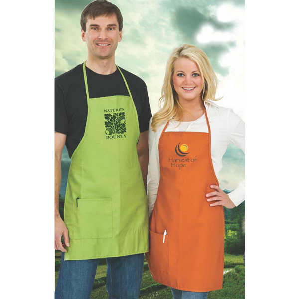 Imprinted Bib Apron/ Pocket