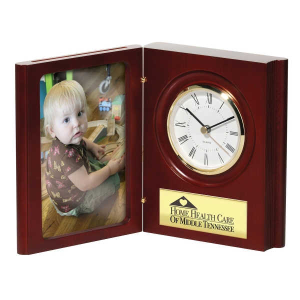 Promotional Matte Finish Book Clock/Picture Frame