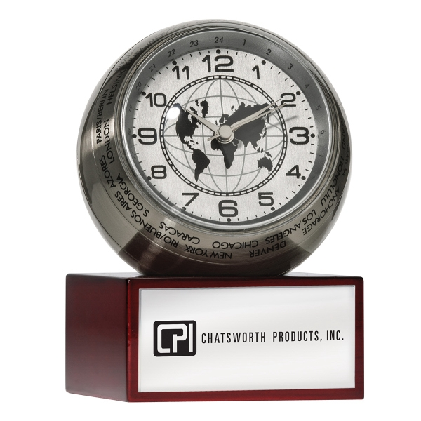 Personalized World Time Globe Clock